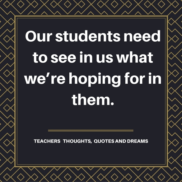 Interesting words of teachers that caught our attention.